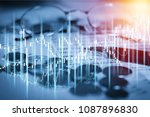 stock market or forex trading... | Shutterstock . vector #1087896830
