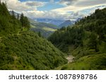 view of the valley in... | Shutterstock . vector #1087898786