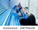 a luxurious slender girl in a... | Shutterstock . vector #1087906430