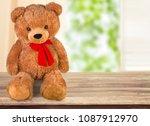 handmade bear toys | Shutterstock . vector #1087912970