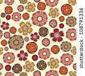 floral seamless pattern | Shutterstock .eps vector #108791336