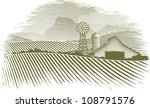 woodcut illustration of a barn... | Shutterstock .eps vector #108791576