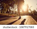 a male runner is running  in...   Shutterstock . vector #1087917083