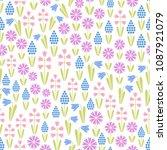 seamless vector floral pattern... | Shutterstock .eps vector #1087921079