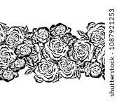seamless monochrome pattern of... | Shutterstock .eps vector #1087921253