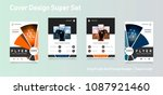 business abstract vector... | Shutterstock .eps vector #1087921460