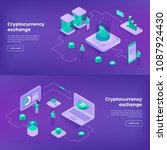 cryptocurrency exchange and... | Shutterstock .eps vector #1087924430