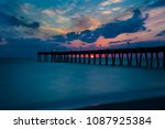 Sunset Over Venice Pier On The...