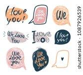set of speech bubbles with... | Shutterstock .eps vector #1087926539
