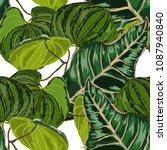 watercolor seamless pattern... | Shutterstock .eps vector #1087940840