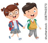 vector illustration of school... | Shutterstock .eps vector #1087943573
