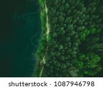 forest and lake border  toned... | Shutterstock . vector #1087946798