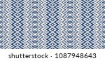 ikat seamless pattern. vector... | Shutterstock .eps vector #1087948643