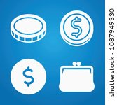 coin icon set   filled... | Shutterstock .eps vector #1087949330