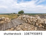 view of israelite fortress... | Shutterstock . vector #1087950893