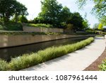 north river walk area near the... | Shutterstock . vector #1087961444