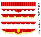 lambrequin  pelmet for the red... | Shutterstock .eps vector #1087965920