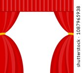 curtains with lambrequins on... | Shutterstock .eps vector #1087965938