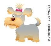 dog vector yorkshire terrier | Shutterstock .eps vector #108796736