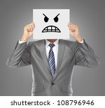 businessman covering his face...   Shutterstock . vector #108796946