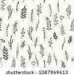 culinary herbs set | Shutterstock .eps vector #1087969613