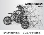 motocross of particles.... | Shutterstock .eps vector #1087969856