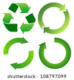 set of green recycle arrow on... | Shutterstock .eps vector #108797099