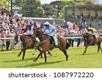 Small photo of Acclaim The Nation (IRE) ridden by Jason Hart and trained by Eric Alston winning the 5f sprint Handicap at Thirsk Races : Thirsk Racecourse, North Yorkshire, UK : 8 May 2018