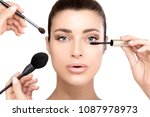 beauty concept with makeup or...   Shutterstock . vector #1087978973