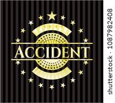 accident gold shiny badge   Shutterstock .eps vector #1087982408