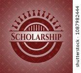 scholarship red emblem. vintage.   Shutterstock .eps vector #1087982444