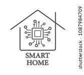 processor styled smart home... | Shutterstock .eps vector #1087984709