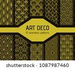 art decto seamless patterns | Shutterstock .eps vector #1087987460