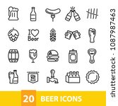 beer vector icons collection | Shutterstock .eps vector #1087987463
