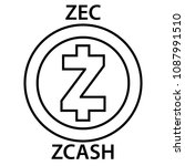 zcash coin cryptocurrency... | Shutterstock .eps vector #1087991510