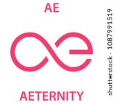 aeternity coin cryptocurrency... | Shutterstock .eps vector #1087991519