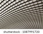 paolo vi hall ceiling  texture | Shutterstock . vector #1087991720