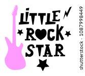 little rock star. seamless... | Shutterstock .eps vector #1087998449