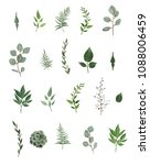 vector designer elements set... | Shutterstock .eps vector #1088006459