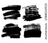 vector set of hand drawn brush... | Shutterstock .eps vector #1088010923