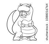 cute baby tyrannosaurus... | Shutterstock .eps vector #1088016764