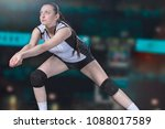 female professional volleyball...   Shutterstock . vector #1088017589