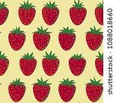 vector seamless strawberry... | Shutterstock .eps vector #1088018660