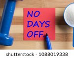 no days off written on note and ... | Shutterstock . vector #1088019338