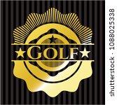 golf shiny emblem   Shutterstock .eps vector #1088025338