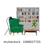 vector interior design... | Shutterstock .eps vector #1088027720