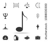 music noteicon. detailed set of ...