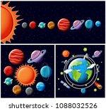 a vector of solar system... | Shutterstock .eps vector #1088032526