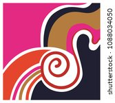 elegant abstract wave design...   Shutterstock .eps vector #1088034050