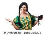 brazilian woman wearing typical ...   Shutterstock . vector #1088035376